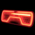 Links | LED Neon achterlicht | dynamisch knipperlicht | 12-24v | 7-PIN AMP | 200cm. kabel
