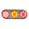 LED Combi lamp   12-24v   kleur 30cm. kabel (helder + chroom)