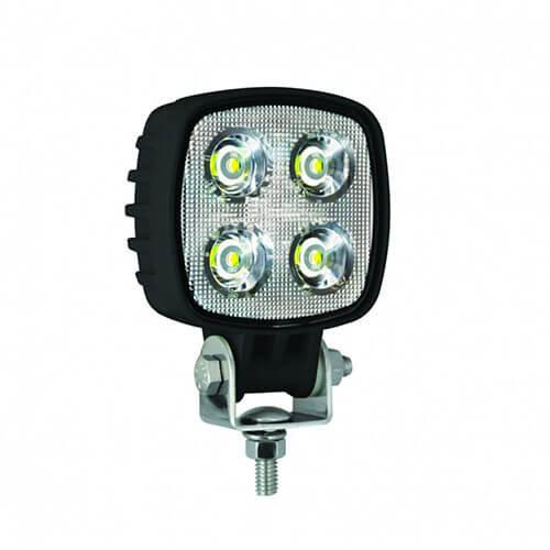 LED LA Werklamp    12 watt   1000 lumen    12-24v   Floodbeam Zwart