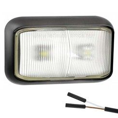 LED markeerlicht wit | 12-24v |  2 pin's connector