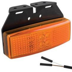 LED marker light amber | 12-24v | 2 connector pin's