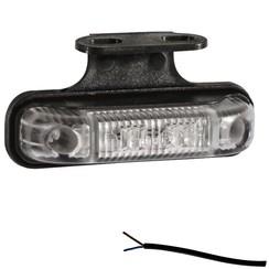 LED marker light white   12-24v   50cm. cable
