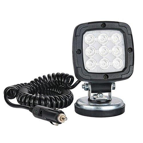 Fristom LED Werklamp   1700 lumen op magneetvoet    12-24v   3.0m krulsnoer