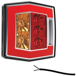 Compact LED rear light with license plate light | 12-36V | 100cm. cable