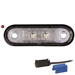 LED markeringslicht rood  | 12-24v |  0,75mm² connector