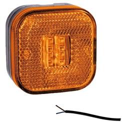 LED Umrissleuchten Bernstein | 12-24V | 50cm. Kabel