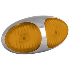 LED markeerlicht amber  | 12-24v |  10cm. kabel