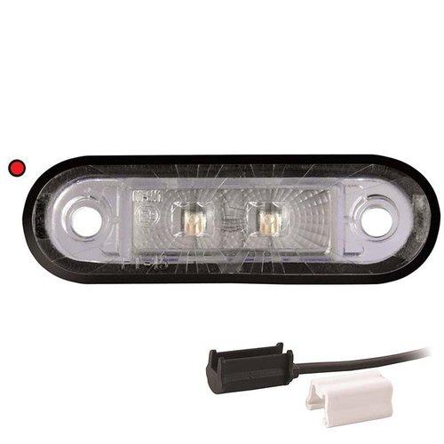 LED markeringslicht rood    12-24v   1,5mm² connector