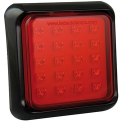 LED fog light with black border | 12-24v | 40cm. cable