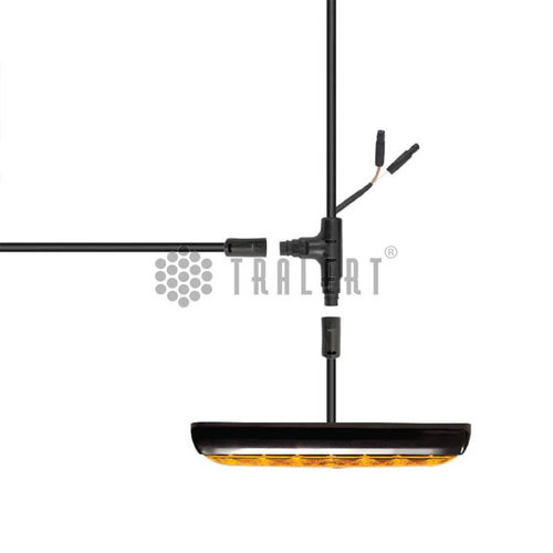 LED Autolamps  3,7m. hoofdkabel met T-stuk & 5 pins connector