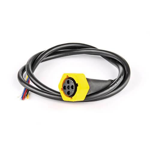 Fristom 5-PIN's Bajonet aansluiting rechts 50cm. kabel