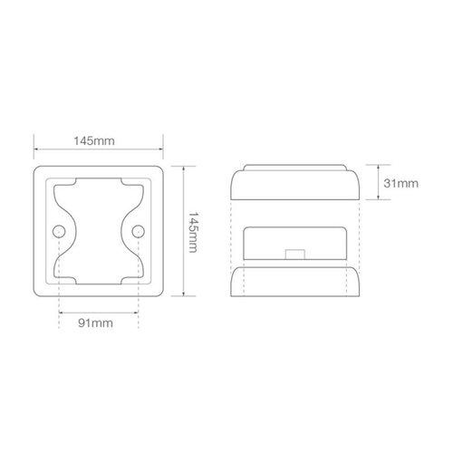 LED rem/achterlicht met chromen rand  | 12-24v | 40cm. kabel