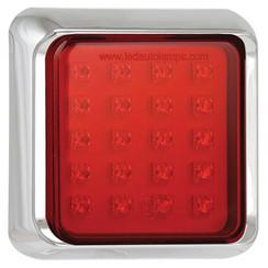 LED mistlicht met chromen rand  | 12-24v | 40cm. kabel