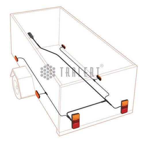 LED Autolamps  400cm. hoofdkabel met 8 pins connector