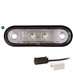 LED decoration light | green | 12-24v | 1,5mm² connector