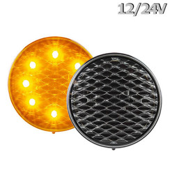 Flashing LED 12V bRight lens 30cm. cable