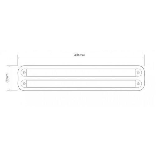 LED Autolamps  Dubbele opbouw houder t.b.v. 380 serie (chroom)