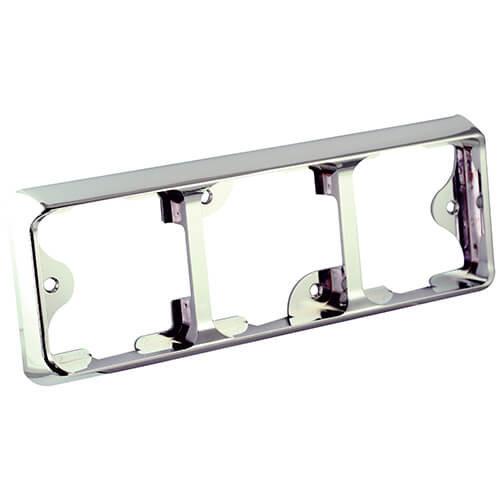 LED Autolamps  Drievoudige chromen omlijsting t.b.v.  125 Series