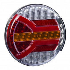 LED rear light with dynamic flashing | 12-24v | 150cm. cable