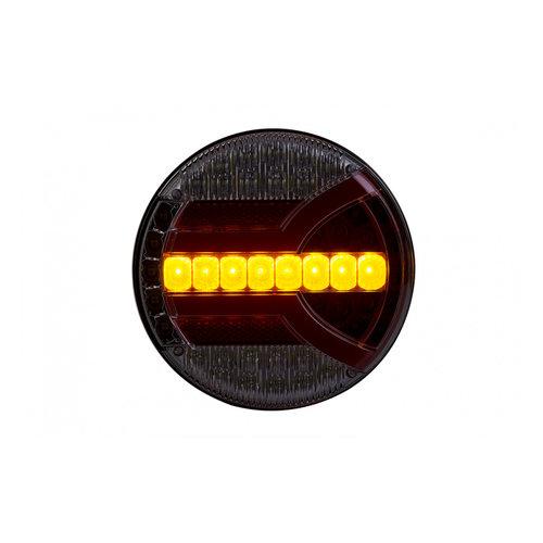 LED achterlicht met dynamisch knipperlicht  | 12-24v | 150cm. kabel