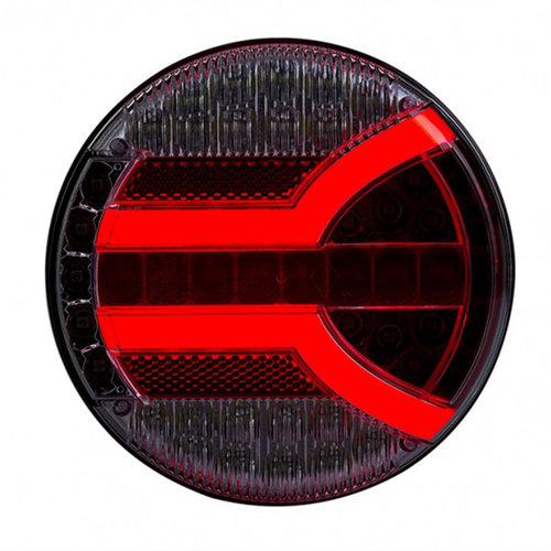 TRALERT® LED achterlicht met dynamisch knipperlicht    12-24v   150cm. kabel