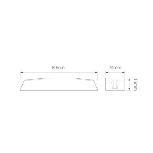 R65 Slimline LED Flitser 4 LED's Amber   10-30v  