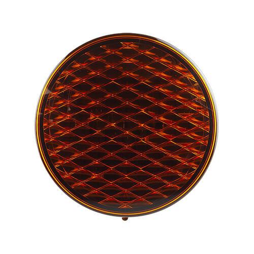 12v LED Flashing colored lens 30cm. cable