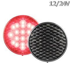 LED Fog | 12-24v | 30cm clear lens. cable