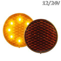 LED Knipperlicht | 12-24v | gekleurde lens 30cm. kabel