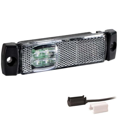 Fristom LED markeringslicht wit  | 12-24v | 1,5mm connector
