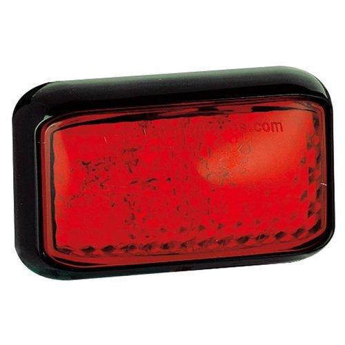 LED markeerlicht rood    12-24v    40cm. kabel