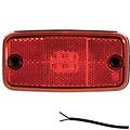 Fristom LED markeringslicht rood  | 12-24v | 50cm. kabel