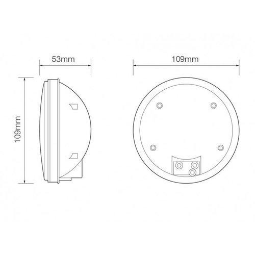 LED Autolamps  LED Achteruitrijlicht inbouw    12-24v   zonder kabel