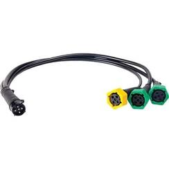 Adapter Kabelstifte 5, von 3 Lampen an dem ersten Stecker.