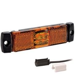 LED markeringslicht amber    12-24v   1,5mm² connector