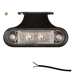 LED marker light amber | 12-24v | 50cm. cable