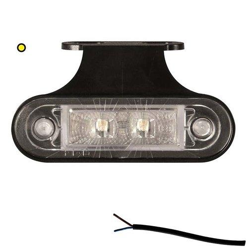 LED markeringslicht amber    12-24v   50cm. kabel
