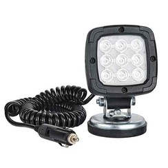 LED Work light | 1000 lumens on magnetic base | 12-24v | 3.0m coiled cable