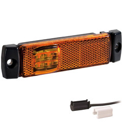 LED markeringslicht amber  | 12-24v | 1,5mm connector