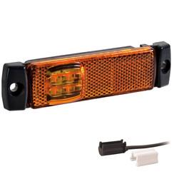 LED Umrissleuchten Gelb | 12-24V | 1,5mm Stecker