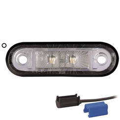 LED marker light white | 12-24v | 0,75mm² connector