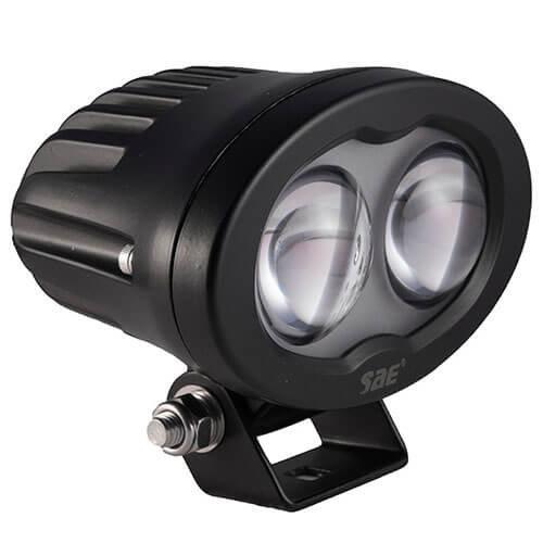 TRALERT® LED Werklamp | Blue, 6 watt | 750 lumen | 9-110v | bolle lens