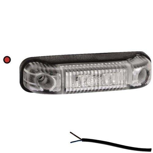 LED markeringslicht rood    12-24v   50cm. kabel