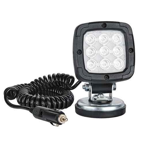 Fristom LED Werklamp magneetvoet| 1000 lumen | 12-24v |  780cm. krulsnoer