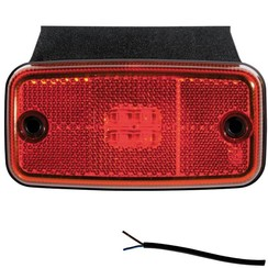 LED marker light red | 12-24v | 50cm. cable