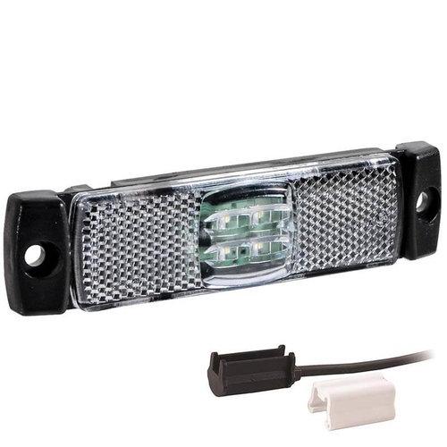 Fristom LED markeringslicht wit    12-24v   1,5mm² connector
