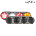 LED Autolamps  LED Combi lamp | 12-24v | 30cm. kabel (helder + chroom)