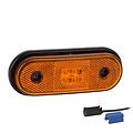 Fristom LED markeerlicht amber  | 12-24v |  0,75mm² connector
