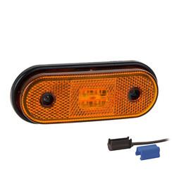 LED marker light amber | 12-24v | 0,75mm² connector