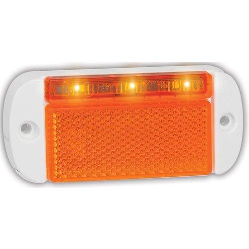 LED markeringslicht amber    12-24v   20cm. kabel